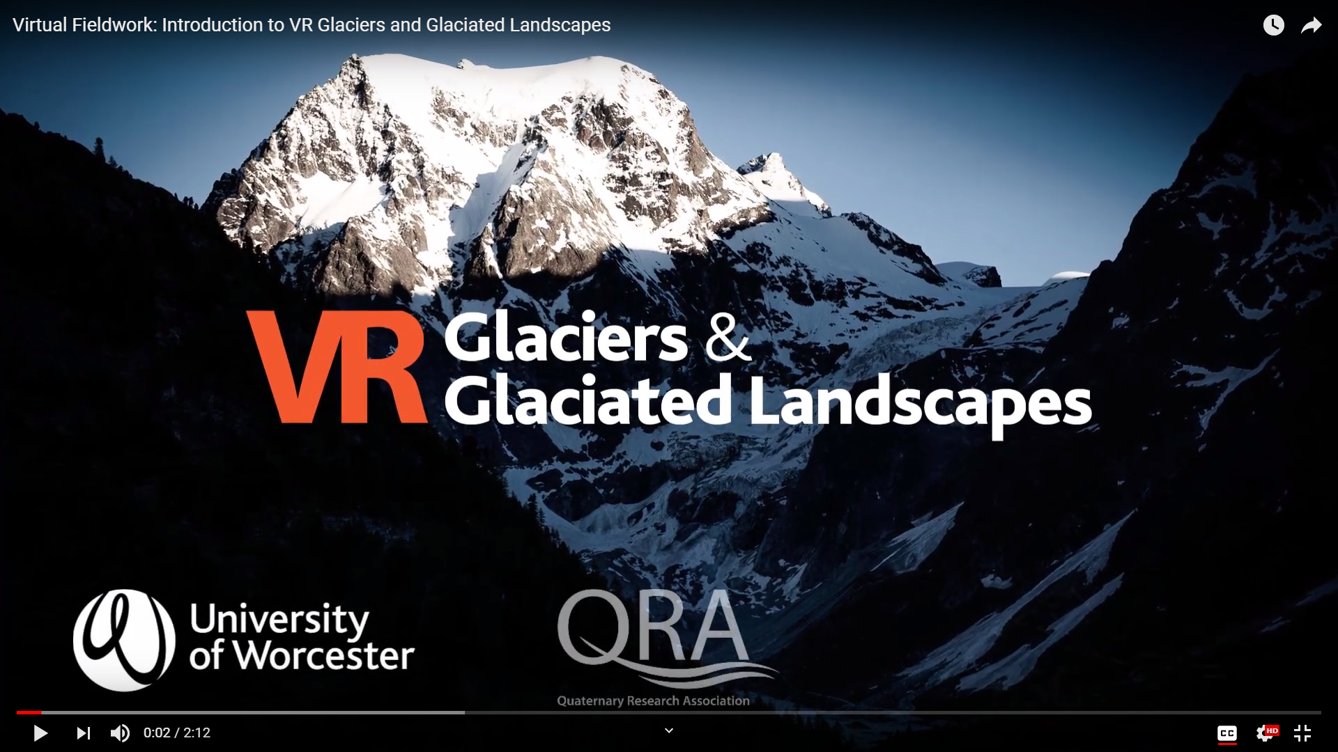 screenshot of VR Glaciers video
